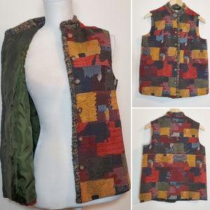Coldwater Creek Rustic Look Tapestry Vest